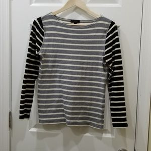 J Crew long-sleeved striped cotton shirt